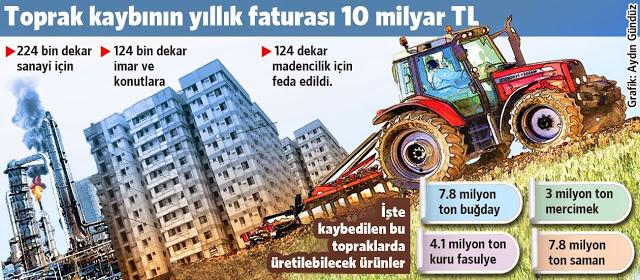 Verimli tarım arazileri inşaata kurban edildi