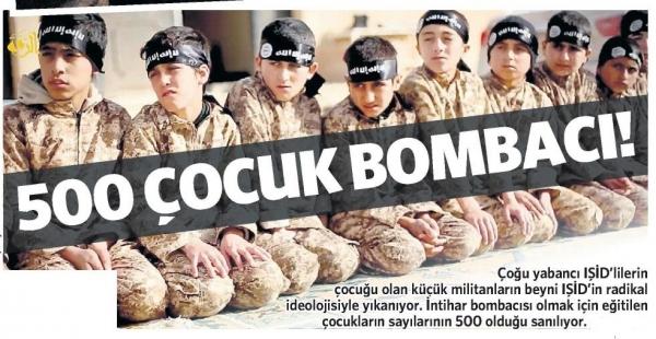 500 çocuk bombacı