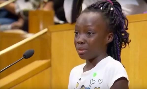 9 yaşındaki çocuktan ırkçılık dersi
