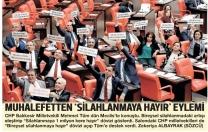 "Meclis'te ""Silahlanmaya 1 milyon kere hayır"" eylemi"