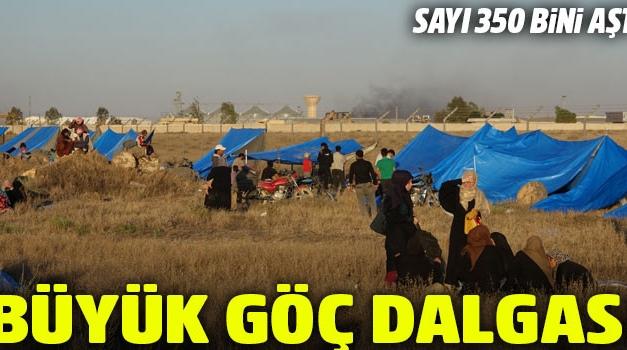 Suriye'nin Dera ilçesinden göç edenlerin sayısı 350 bini aştı