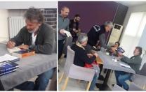 Çağatay kardeşler Bafra'da öğrencilerle biraraya geldi