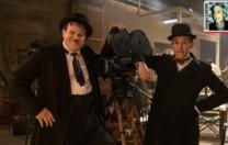 """Sinemanın en ünlü komiklerinden """"Laurel ile Hardy"""" ikilisini anımsarken."""